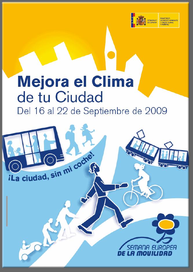 Cartel de la semana de la movilidad sostenible