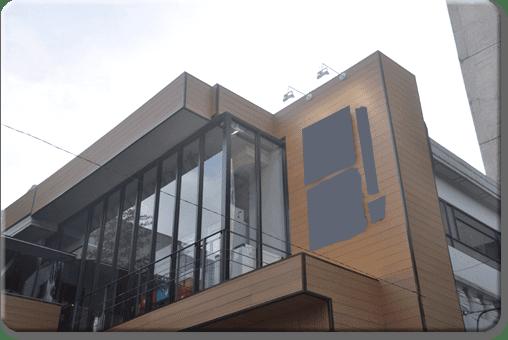 Revestimiento para fachadas en madera sin mantenimiento for Losetas para fachadas