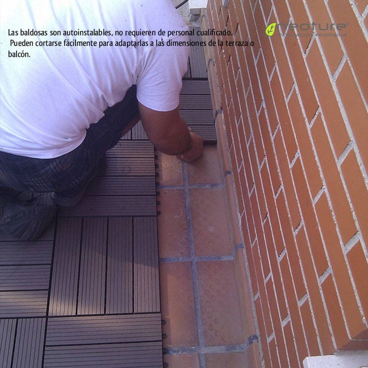 Baldosa de jardin el suelo composite m s f cil de instalar - Baldosas para exterior ...