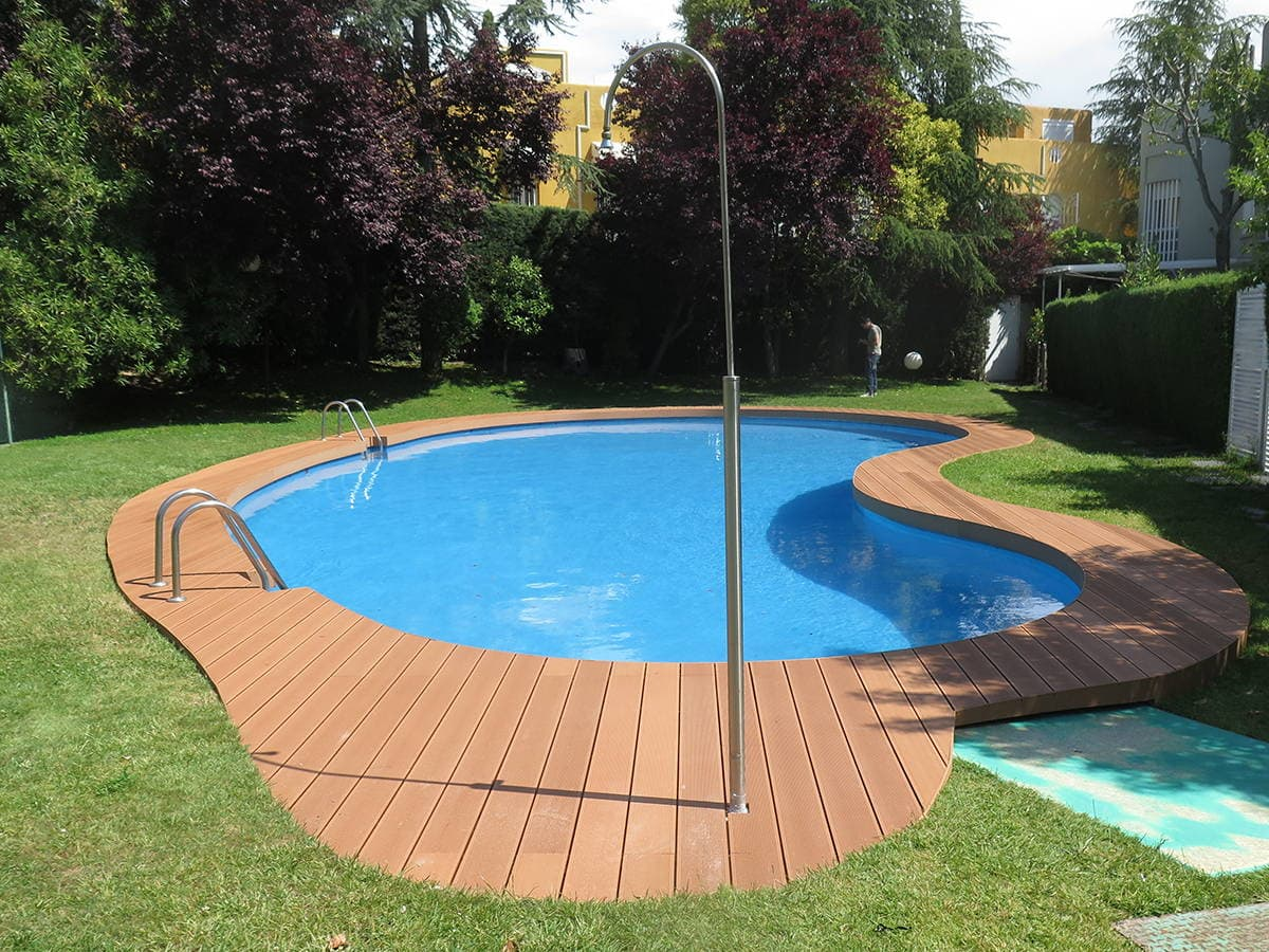 Suelo De Madera Exterior Para Piscina Riego Y Jardines - Suelos ...