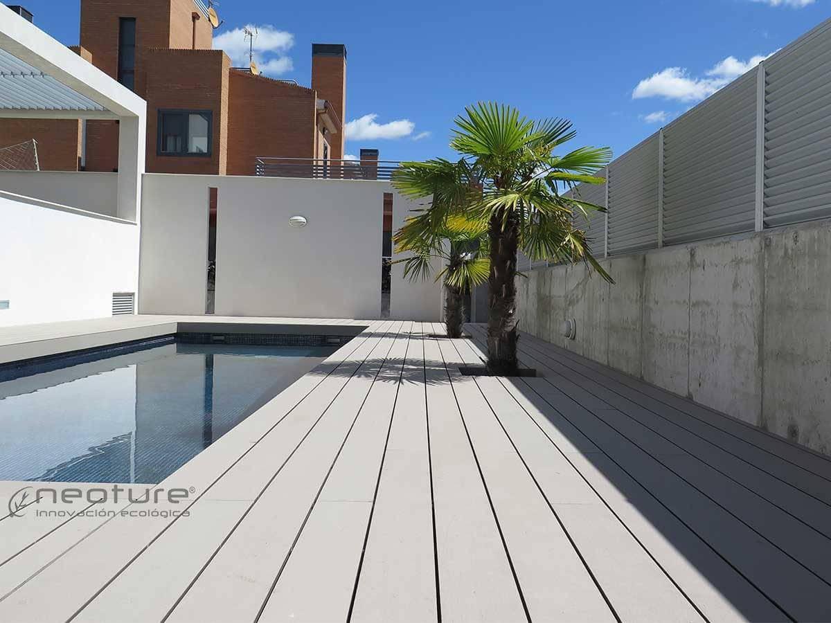 Tarima sint tica de exterior neoteck for Terraza madera exterior