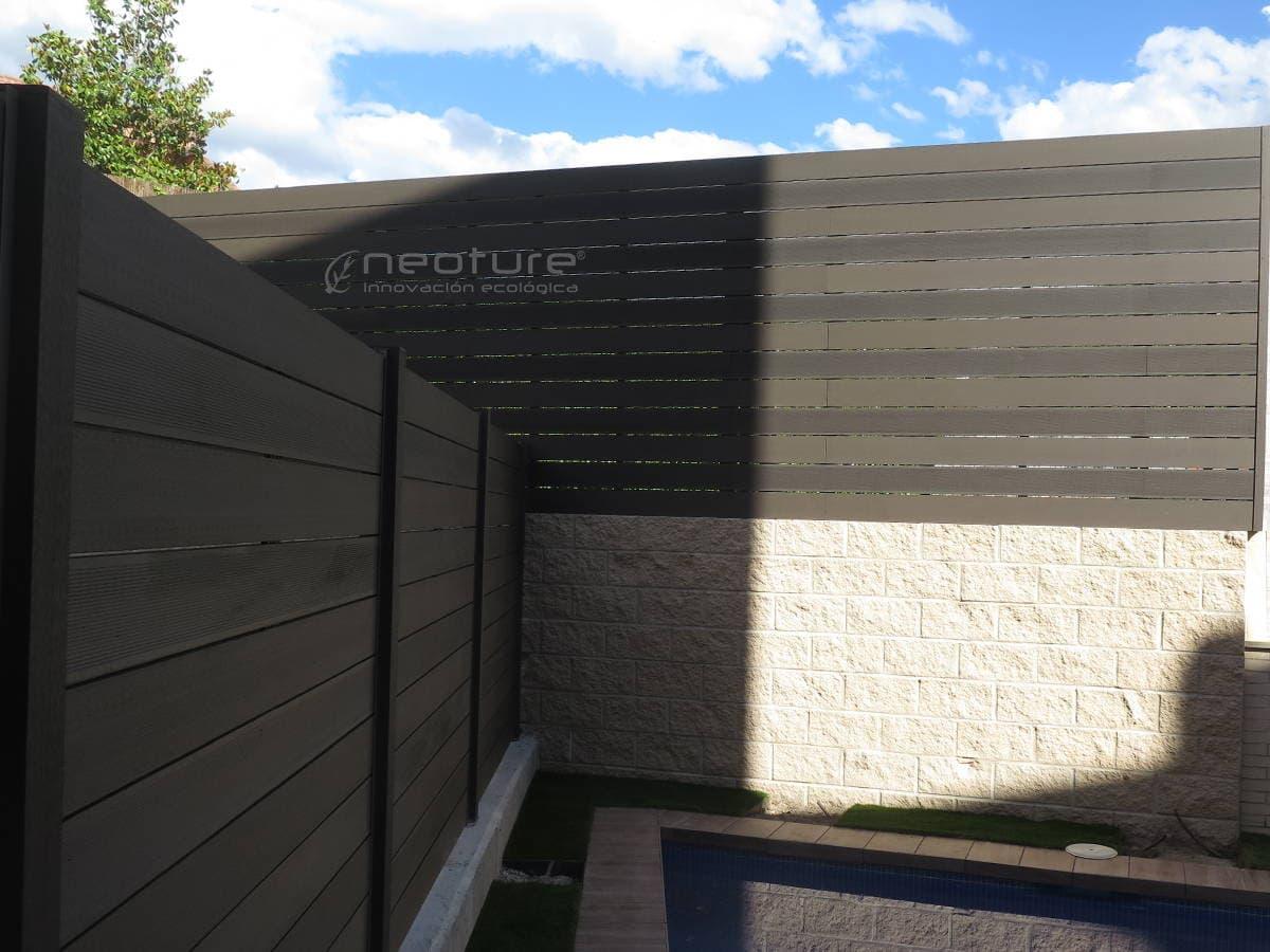 Cerramiento madera composite para terrazas neoture - Resina para paredes ...