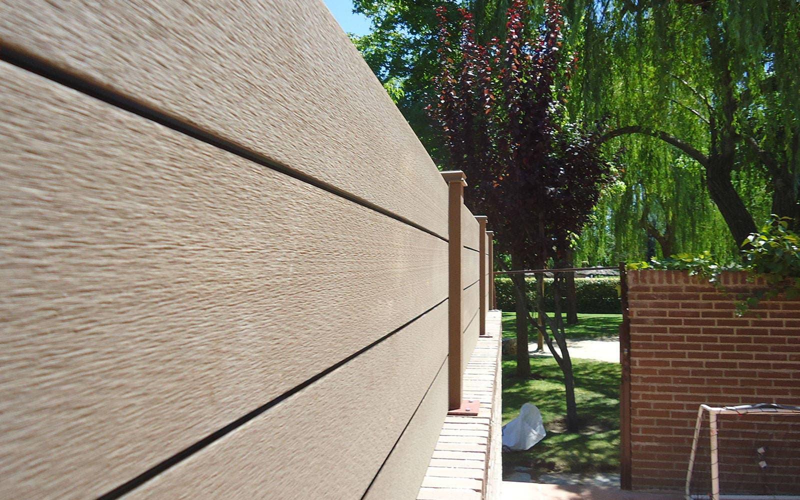 vallado jardin y cerramientos en madera sint tica