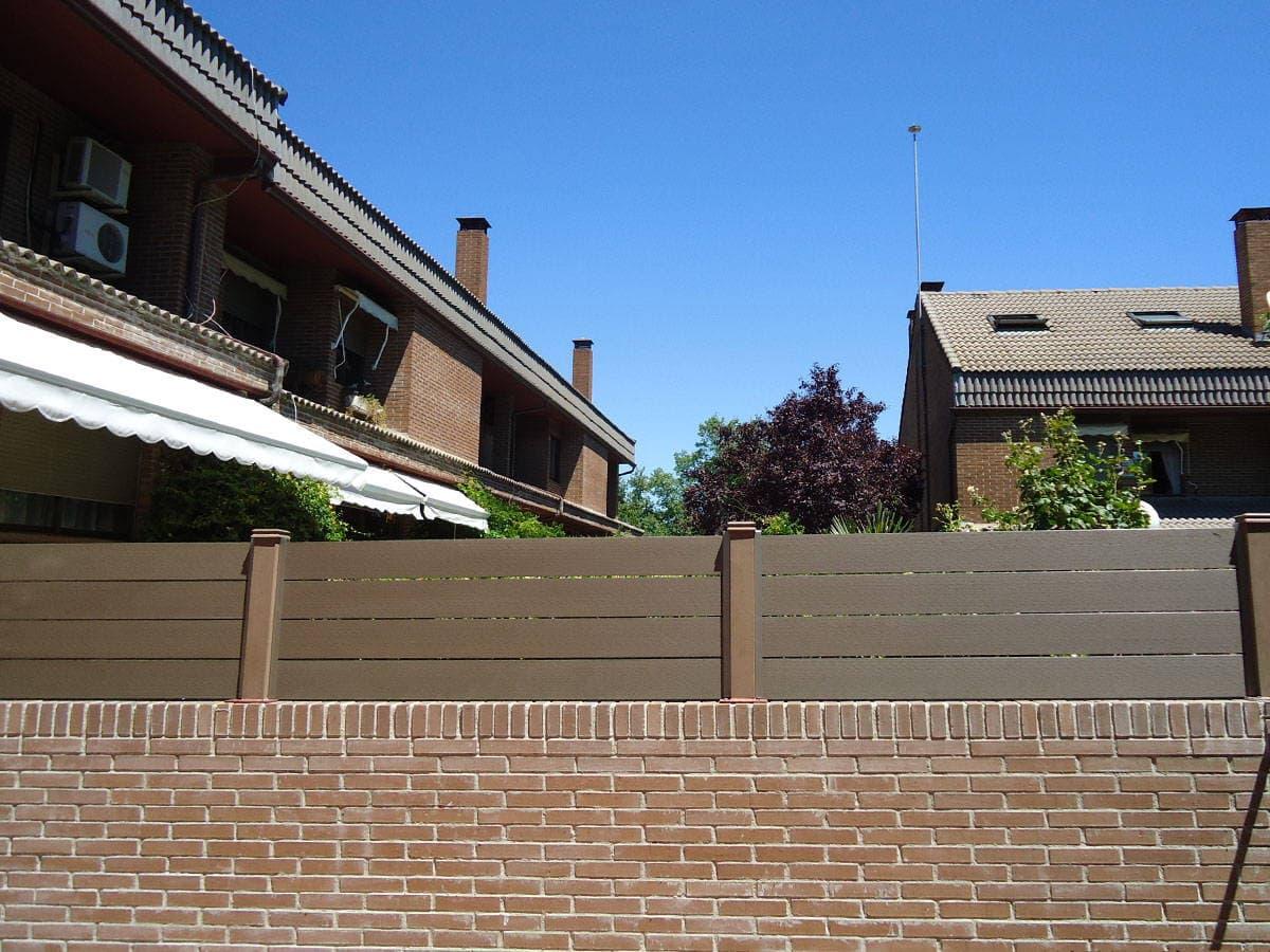 Cerramientos de terrazas en madera sint tica sin mantenimiento - Cerramientos para terrazas ...
