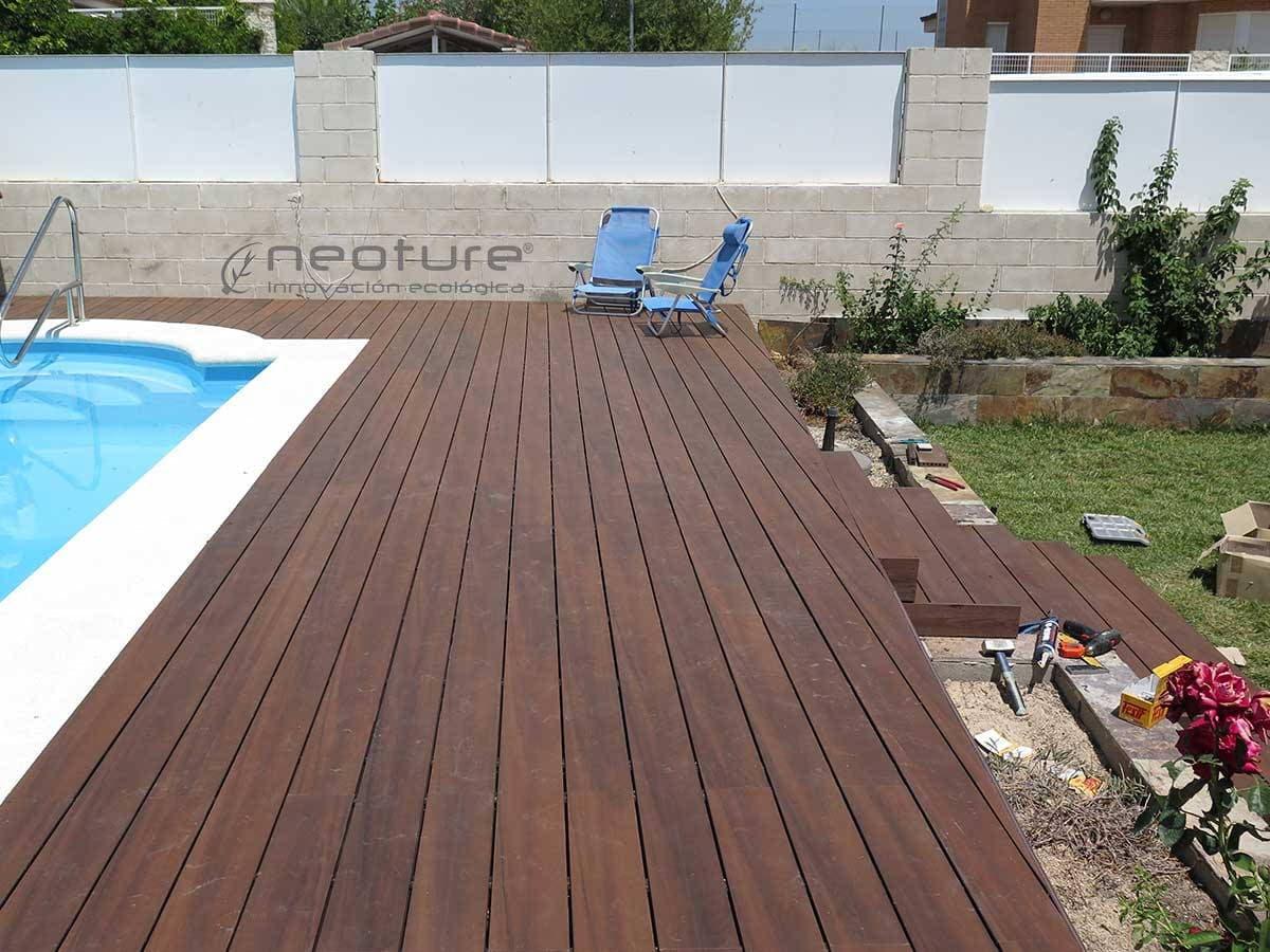 Tarima tecnologica para exterior neocros for Madera para piscinas