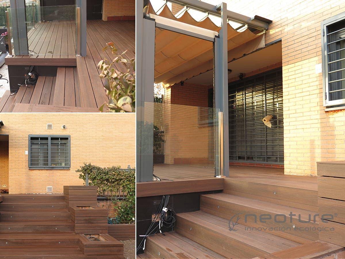 Tarimas y baldosas para exterior en madera sint tica - Tarima sintetica ...