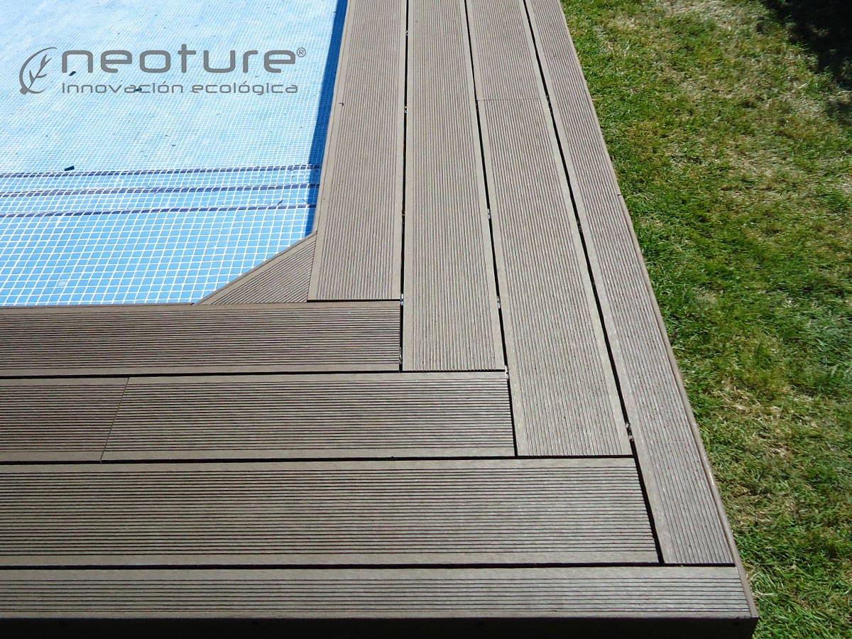 Tarimas de madera para exterior for Piscina composite