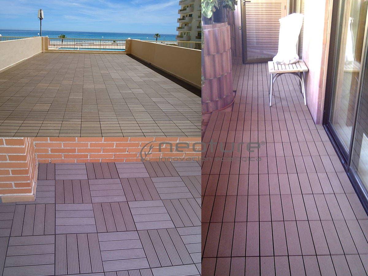 La baldosa composite para terraza el suelo de exterior for Baldosas exterior precios