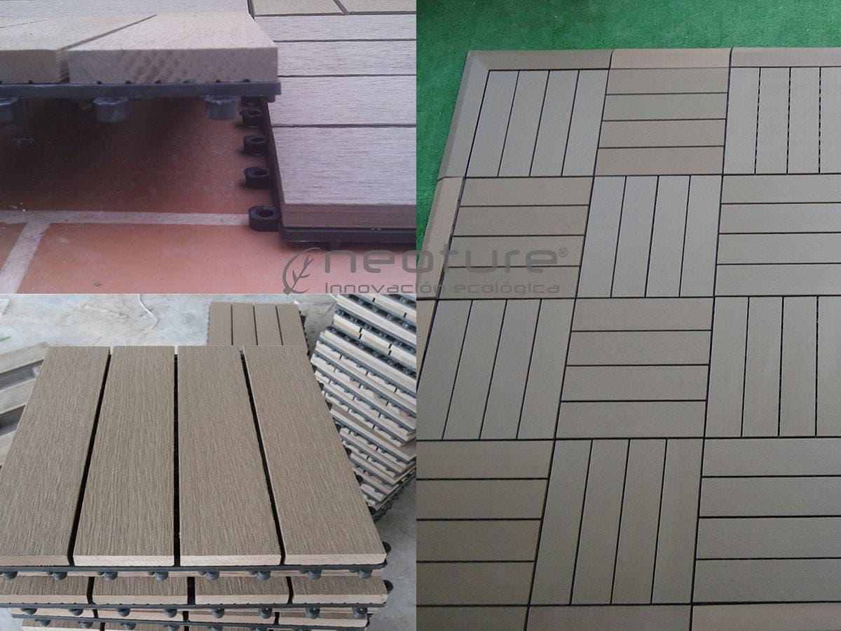 La baldosa composite para terraza el suelo de exterior for Suelos para jardin exterior