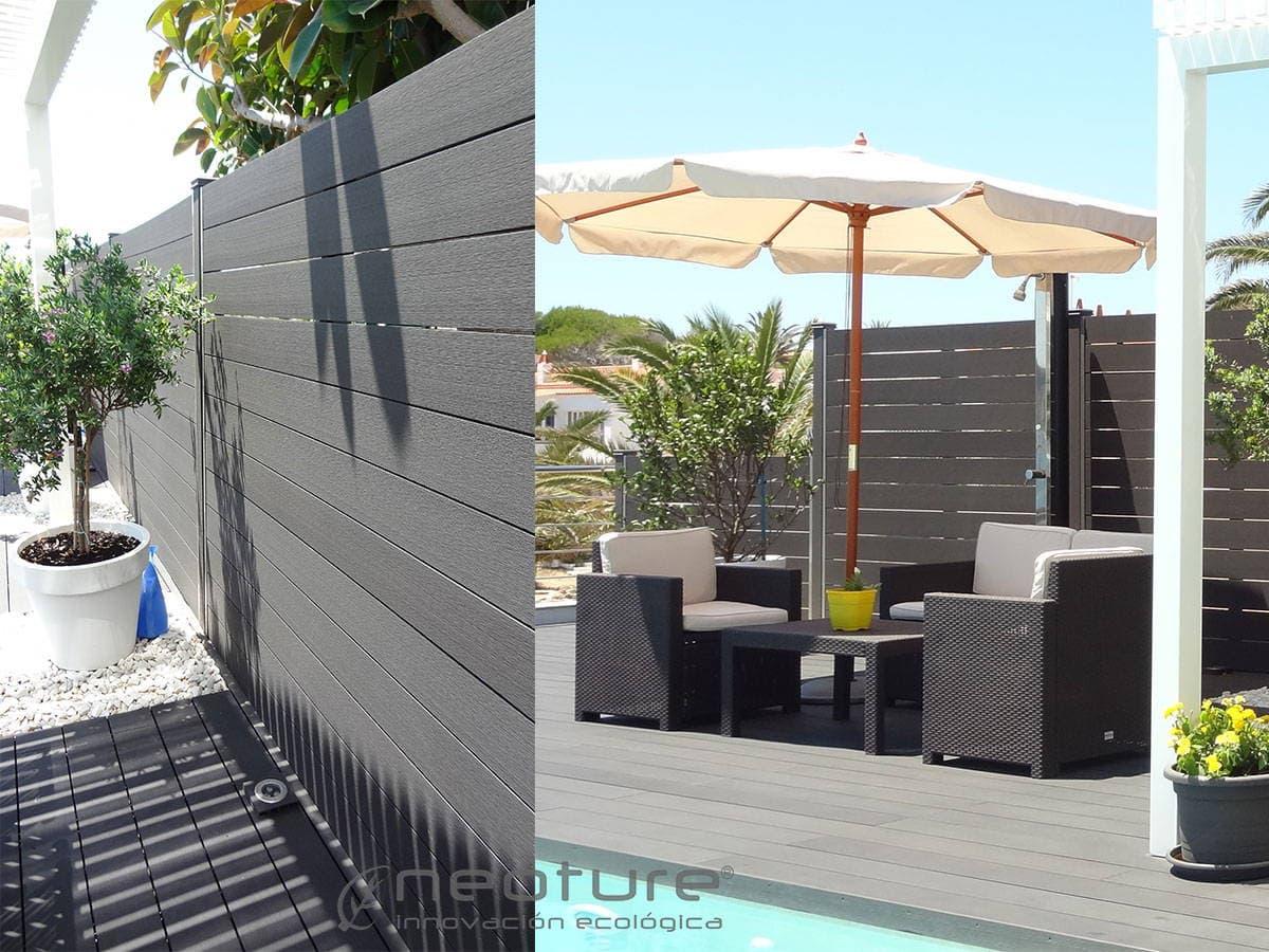 Cerramiento terraza madera sin mantenimiento for Terraza de madera exterior